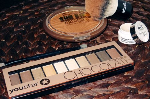 "Youstar Bronzer & Lid­schat­ten­pa­lette ""Cho­co­late"" + P2 Eyes­hadow Base"