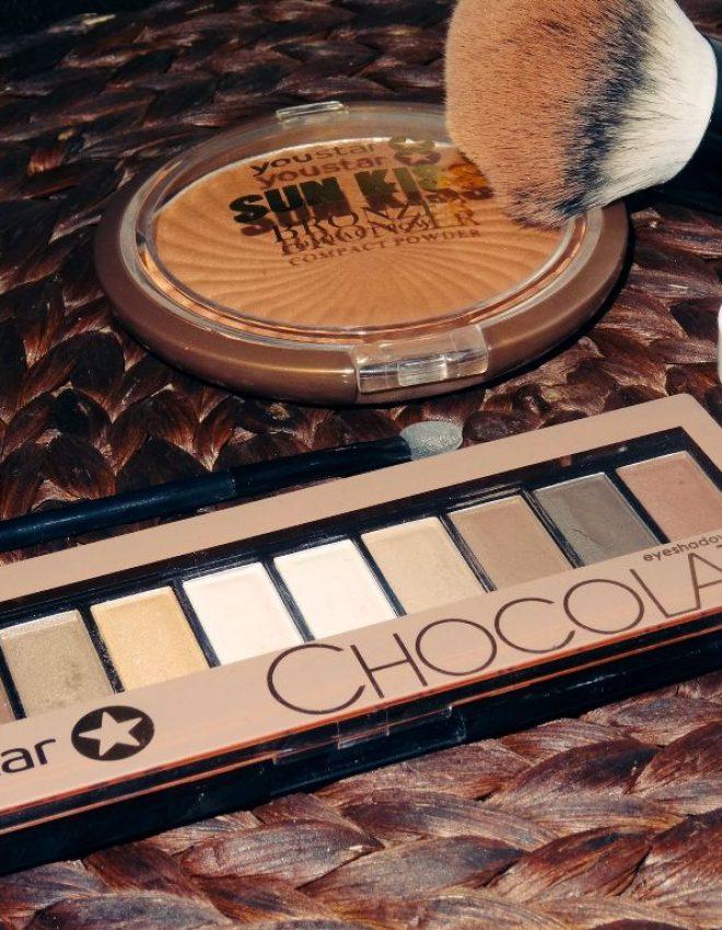 """Youstar Bronzer &Lidschattenpalette """"Chocolate"""" + P2 Eyeshadow Base"""