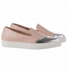 Damen Slipper in rosa + silber - C&A