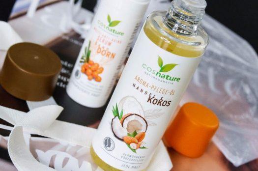 Natürliche Pflege von #COSNATURE – Sanddorn-Serum &Mandel-Kokos-Öl