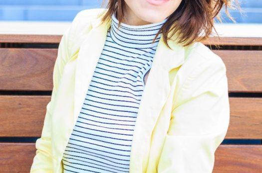 """Sommerliches Outfit mit zitronengelbem """"Gute-Laune-Blazer"""""""